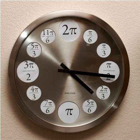 Math Major Wall Clocks