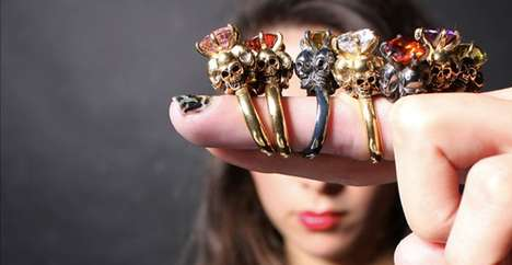 Black Magic Jewelry - Jewel Heritage's Four Skull RIng Seems Made for Dark Sorcerers