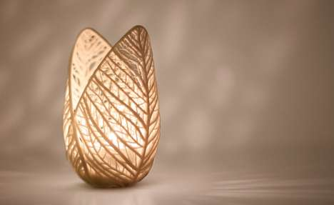 Organic Candle Holders - The Vein by Tanja Soeter Illuminates With a Natural Beauty