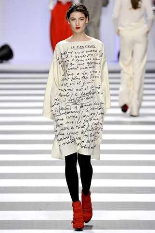 Scribbled Manuscript Couture