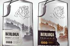 Robust Booze Branding - Berloga Vodka Bottles Stake Untamed Territory on Liquor Store Shelves