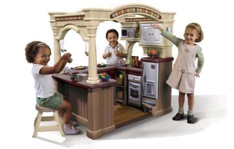 Luxury Kiddie Kitchens - The LifeStyle Grand Walk-In Kitchen Serves Up Gourmet Plastic Grub
