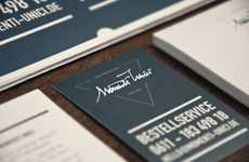 Urbane Eatery Identities - Momenti Unici Restaurant Branding Has a Bold and Blue Simplicity