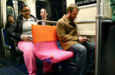 Cozy Subway Seats - Ishknits Yarn Bombing Brings Colorful Comfort to Your Daily Trips