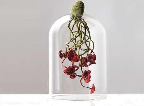 Upside-Down Floral Art