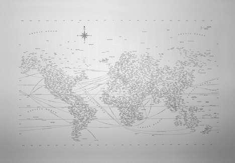 Typographic World Maps