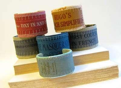 Book Cover Bracelets