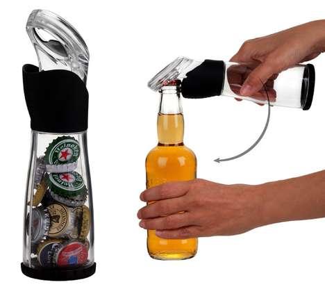 Cap-Catching Bottle Openers