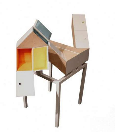 Abstract Transforming Tables - Starling Box by Design School Students