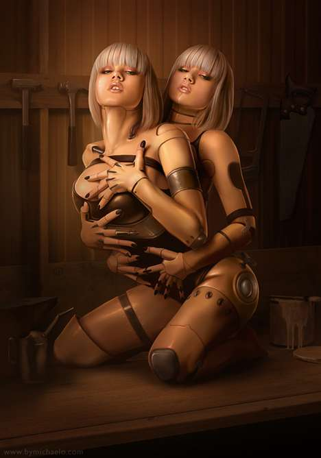Futuristic Fembot Digistrations