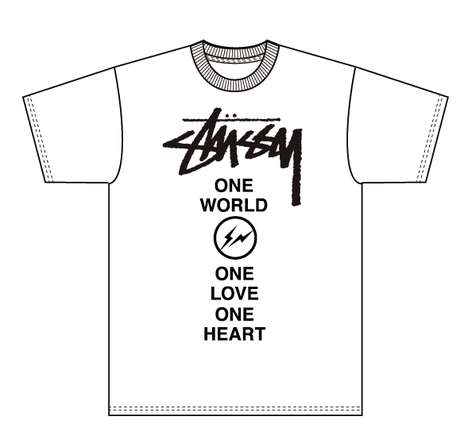 Charity Designer Apparel - Sales from the Stussy x Fragment Design Shirt Go to Red Cross for Japan