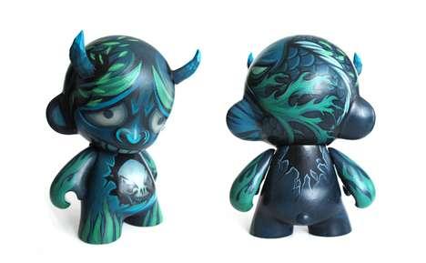 Devilishly Painted Demon Dolls