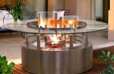 Table Fireplaces Hybrids - The Rays of Light Firepit Will Fill You With Burning Desire