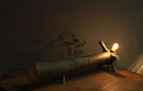 Repurposed Trees Decor - These 'et al.' fLume Lamps are One-of-a-Kind Wooden Creations
