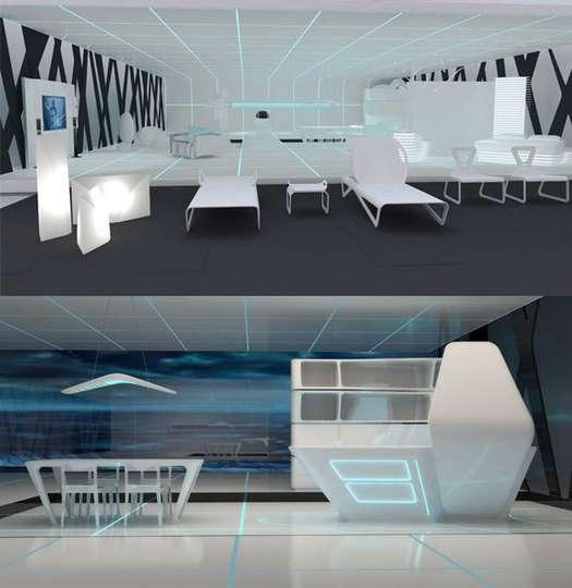 Icy Sci Fi Interiors Tron Designs