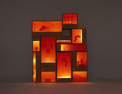 Minimalist Monochromatic Dioramas