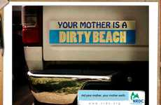 Insulting Eco-Bumper Stickers - These NRDC Bumper Stickers Promote Eco-Awareness Through Insults