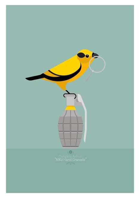 Explosive Avian Awareness Art