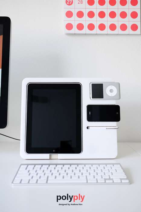 Tabletop Gadget Organizers - The Polyply Stand is an Artsy Way to Store Your iToys Neatly