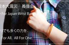 Disaster Relief Accessories - The Roberu Pray For Japan Wristband Proceeds Go to the Red Cross