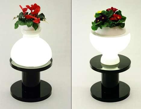 Upcycled Pedestal Lighting