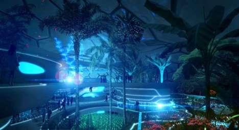 Na'vi-Inspired Showrooms