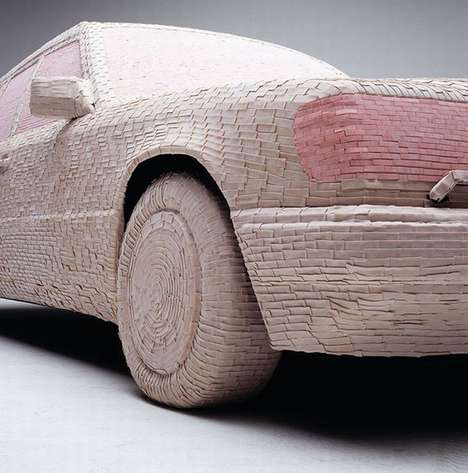 Gum-Covered Cars - Wrigley's-Wrapped Mercedes by Christian Stoll is a Sedan in a Sticky Situation