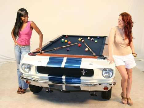 Muscle Car Billiard Tables - The 1965 Shelby GT Pool Table is Signed and Numbered by Carroll Shelby