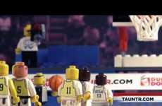 Toy Block Buzzer-Beaters  - The LEGO Greatest NCAA March Madness Moments Video is for Hoops Heads