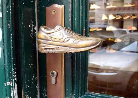 Doorknob Branding - The Metrofarm Sneakerknob Door Handles Enhance the Company's Retail Presence