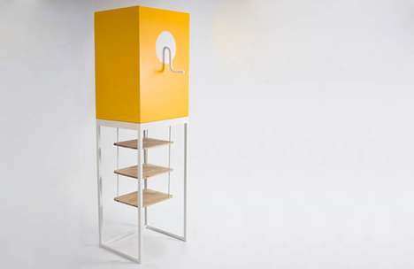 Kiddie-Toy Cabinets - The Niclas Andersson Jack in the Box Shelves are Fun and Functional