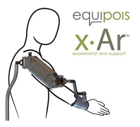 Mechanical Cyborg Arms - Revolutionary Equipois Exoskelton Limb Makes Gun Shows Obsolete