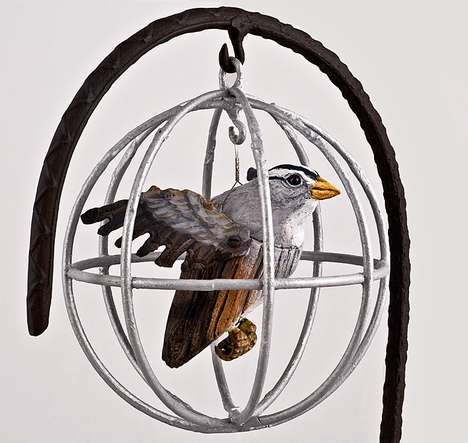 Kathy Boortz Turns Salvaged Wood and Metal into Intricate Bird Replicas