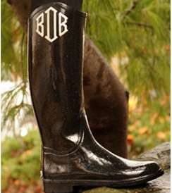 Monogrammed Weatherproof Boots - You'll Be Singing in the Rain With Zoubaby Galoshes