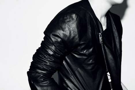Geometric Leather Jackets