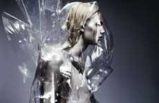 Futuristic Metal-Faced Models