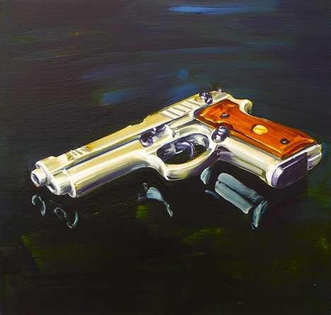 Pistol Oil Paintings