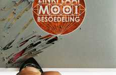 Scratch-Off CD Covers - Scrape Away Layers to Reveal the Zinkplaat Mooi Besoedeling Album Cover