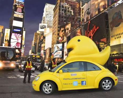 Marshallmallow  Chick Marketing - Peepster Uses a Modified Volkswagen to Promote Sugary Sweetness