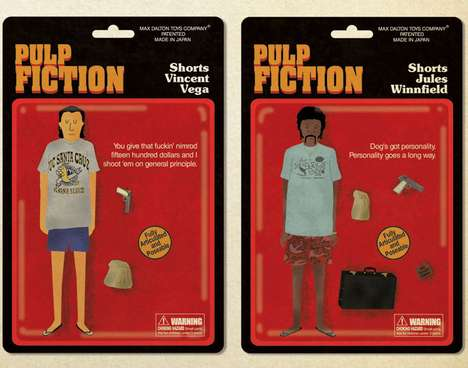 Cult Film Director Exhibits - Pulp Fiction Action Figure Posters Join the Quentin vs. Coen Gallery