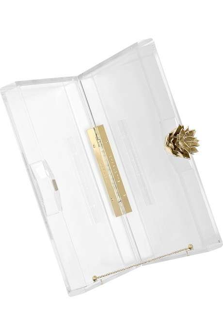 Glass Handbags - The $615 Pandora Plexiglas Clutch by Charlotte Olympia is for Modern Cinderellas