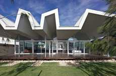 Zigzag Rooftops - The Florida Beach House by Iredale Pedersen Hook Architects is Quirkily Haphazard