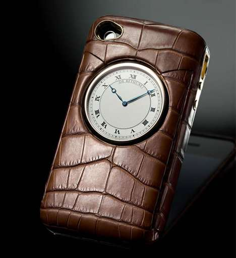 Sumptuous iPhone Covers - The DBM De Bethune Boasts Alligator Skin and a Pocket Watch