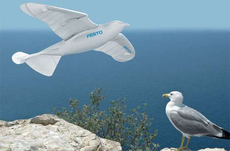 Robotic Birds - The Festo Automated Smartbird Mimics Actual Avian Movement