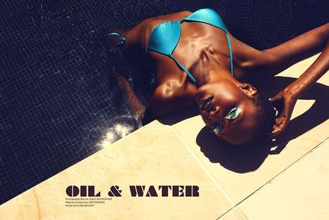 Shimmering Swimwear Photoshoots