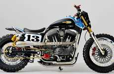 Retro-Revival Dirt Bikes - XLST3 Sportster Tracker is an Award-Winning Custom Dirt Bike