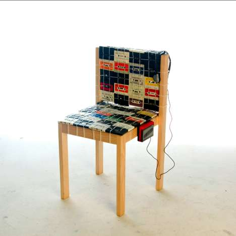 Retro Audio Furniture - The Silla Cassette Tape Chair is Retro Upcycling at its Best
