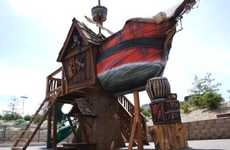 Swashbuckling Playgrounds - The Pirate Ship Playhouse Offers Luxury Area for Boundless Imaginations