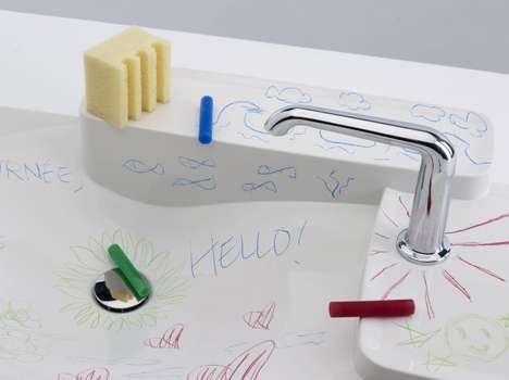 Doodled Bathroom Sinks