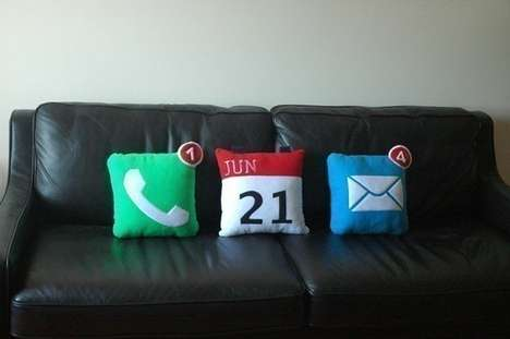 Smartphone Iconcessories - The iPhone Icon Pillows Bear an App-Friendly Design